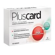 Pluscard, 100 mg + 40 mg, tabletki, 60 szt.