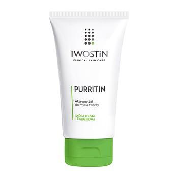 Iwostin Purritin, aktywny żel do mycia twarzy, skóra tłusta i trądzikowa,  150 ml - Portal DOZ.pl