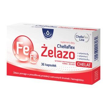 Chellaflex Żelazo, kapsułki, 36 szt.