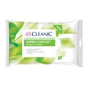Cleanic Super Comfort, chusteczki do higieny intymnej, 20 szt.