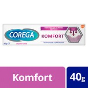 Corega Komfort, krem mocujący do protez zębowych, smak miętowy, 40 g