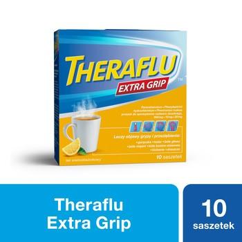 Theraflu ExtraGRIP, 650mg+10mg+20mg, proszek w saszetkach do sporządzania roztworów doustnych, 10 szt.