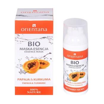 Orientana Bio, maska-esencja, papaja i kurkuma, 50 ml