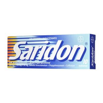 Saridon, 250 mg+150 mg+50 mg, tabletki, 10 szt.