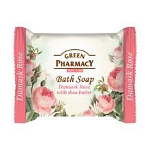 Green Pharmacy, mydło w kostce, róża damasceńska i masło shea, 100 g