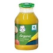Gerber Organic, nektar jabłko mango, 4 m+, 200 ml