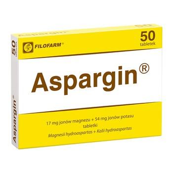 Aspargin, 250 mg 250 mg, tabletki, 50 szt. (Filofarm)