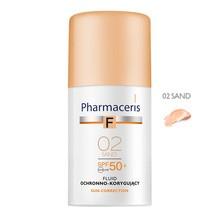 Pharmaceris F, fluid ochronno-korygujący, Sand 02, SPF 50+, 30 ml