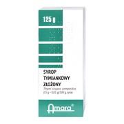 Syrop tymiankowy złożony, (15 g+0,01 g/100g), syrop, 125 g (Amara)