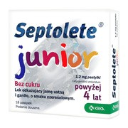 Septolete Junior, 1,2 mg, pastylki, 18 szt.