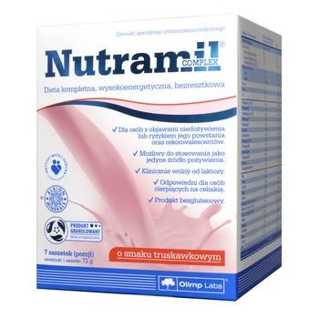 Olimp Nutramil Complex, smak truskawkowy, 7 saszetek