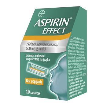 Aspirin Effect, 500 mg, granulki w saszetkach, 10 szt.