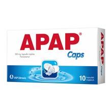 Apap Caps, 500 mg, kapsułki miękkie, 10 szt.
