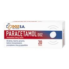 Paracetamol DOZ, 500 mg, tabletki, 20 szt.