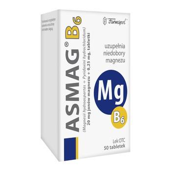 Asmag B, 20 mg+0,25 mg, tabletki, 50 szt.
