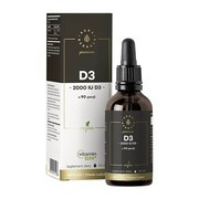 Witamina D3 2000 Premium D3V Vegan, krople, 50 ml