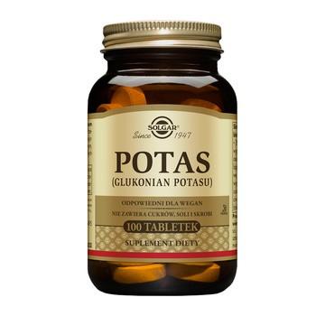 Solgar Potas, tabletki, 100 szt.
