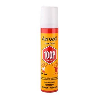 100P aerozol zapachowy, spray na komary, meszki i kleszcze, 75 ml