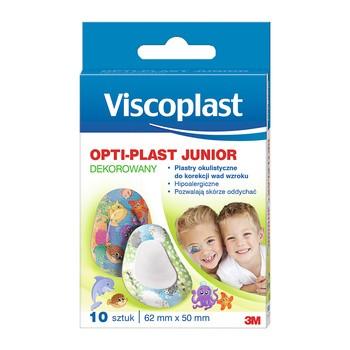 Optiplast, plastry okulistyczne junior, dekorowane, 62 x 50 mm, 10 szt.