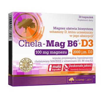 Olimp Chela-Mag B6+D3, kapsułki, 30 szt.