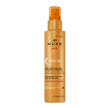 Nuxe Sun, nawilżająco-ochronny, mleczny olejek do włosów, 100 ml