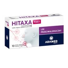 Hitaxa Fast, 5 mg, tabletki ulegające rozpadowi w jamie ustnej, 10 szt.