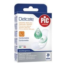 PiC Delicate, antybakteryjne plastry opatrunkowe, medium, 19 x 72 mm, 20 szt.