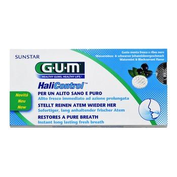 Sunstar Gum HaliControl, tabletki do ssania, smak mięta-czarna porzeczka, 10 szt.