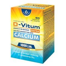 D-Vitum Forte Calcium 1000 j.m., tabletki, 60 szt.