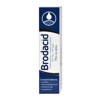Brodacid, (50,4 mg + 100 mg)/g, płyn na skórę, 8 g
