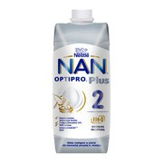 Nan Optipro Plus 2 HM-0, mleko następne w płynie dla niemowląt powyżej 6. miesiąca, 500 ml