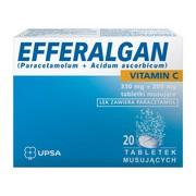 Efferalgan Vitamin C, 330 mg + 200 mg, tabletki musujące, 20 szt.