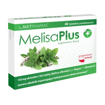 Melisa Plus, tabletki powlekane, 40 szt.