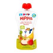 HiPP HiPPiS BIO, mus jabłka, truskawki, banany, po 6. miesiącu, 100 g