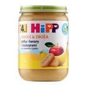HiPP BIO, jabłka i banany z biszkoptami, 4 m+, 190 g