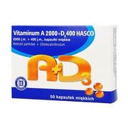 Vitaminum A+D3 Hasco, 2000 j.m. + 400 j.m., kapsułki miękkie, 50 szt.