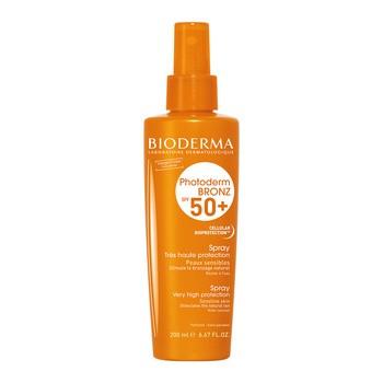 Bioderma Photoderm Bronz, ochronny spray przyspieszający opalanie, SPF 50+, 200 ml