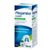 Flegamina o smaku miętowym, 4 mg / 5 ml, syrop, 200 ml