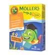 Mollers Omega-3 Rybki, żelki, smak pomarańczowo-cytrynowy, 36 szt.