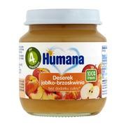 Humana 100% Organic Deserek jabłko-brzoskwinia, 4 m+, 125 g