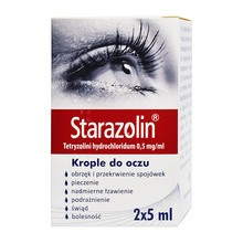 Starazolin, (0,5 mg/ml), krople do oczu, 2 x 5 ml