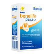 Humana benelife D3+DHA, płyn, 15 ml