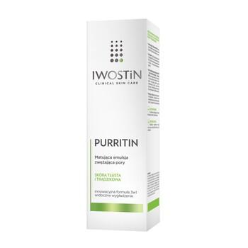 Iwostin Purritin, matująca emulsja zwężająca pory, 40 ml