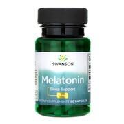 Swanson Melatonina 3 mg, kapsułki, 120 szt.