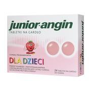 Junior angin, tabletki na gardło, 24 szt.