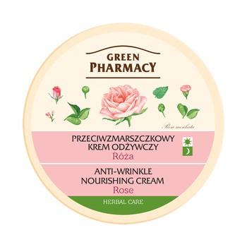 Green Pharmacy, odżywczy krem przeciwzmarszczkowy, róża, 150 ml