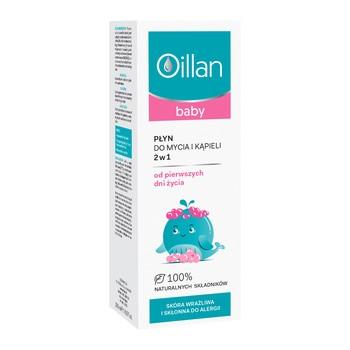 Oillan Baby, płyn do mycia i kąpieli 2w1, 200 ml