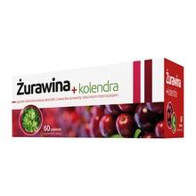 Żurawina + kolendra, tabletki, 60 szt