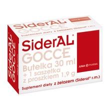 SiderAL GOCCE, proszek w saszetce+butelka, 1,9 g+30 ml, 1 szt.