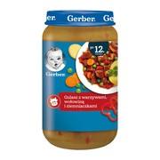 Gerber, gulasz z warzywami, wołowiną i ziemniaczkami, 12 m+, 250 g